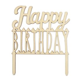 ScrapCooking Scrapcooking Cake Topper Hout Happy Birthday