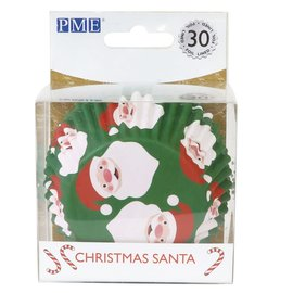 PME PME Foil Baking Cups Christmas Santa pk/30