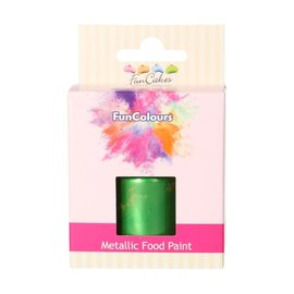 FunCakes FunColours Metallic Food Paint Heldergroen 30ml