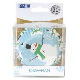 PME PME Foil Baking Cups Christmas Snowman pk/30