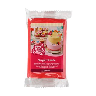 FunCakes FunCakes Rolfondant Rood -Fire Red- -250g-