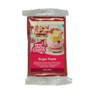 FunCakes FunCakes Rolfondant Rood -Ruby Red- -250g-