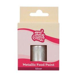 FunCakes FunColours Metallic Food Paint Silver 30ml