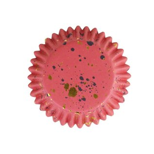 PME PME foil baking cups pink & gold flecks pk/30