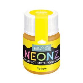 SK Squires Kitchen NEONZ Kleurstof Gel geel 20g