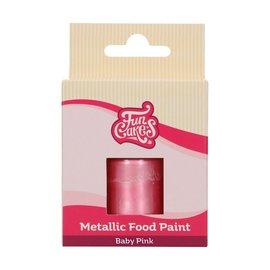 FunCakes FunColours Metallic Food Paint Baby Pink 30ml