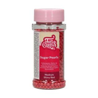 FunCakes Funcakes suikerparels Medium Rood Glans- 80g