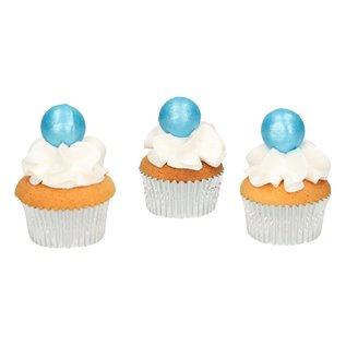 FunCakes FunCakes Pearl Choco Balls Blue Set/8