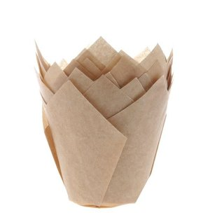 House of Marie HOM Muffin Cups Tulp Kraft pk/36