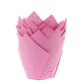 House of Marie HOM Muffin Cups Tulp Roze pk/36