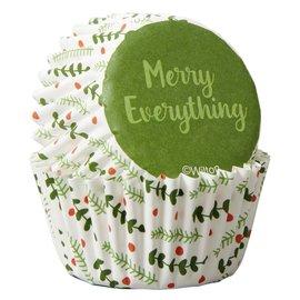 Wilton Wilton Mini Baking Cups Merry Everything pk/100