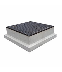 Diederen Bouwlease Putafdekking gietijzer beton 170mm hoog, dagmaat 520mm, klasse D, 400KN