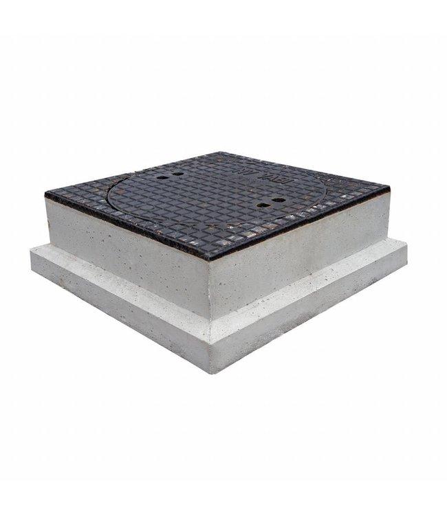 Diederen Bouwlease Putafdekking gietijzer beton 120mm hoog, dagmaat 520mm, klasse D, 400KN