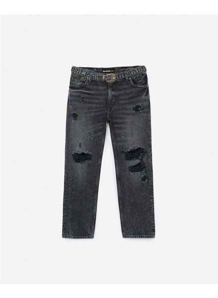 The Kooples Denim distressed buckles