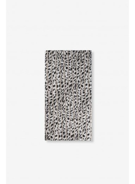 Alix The Label Leopard Stripe scarf