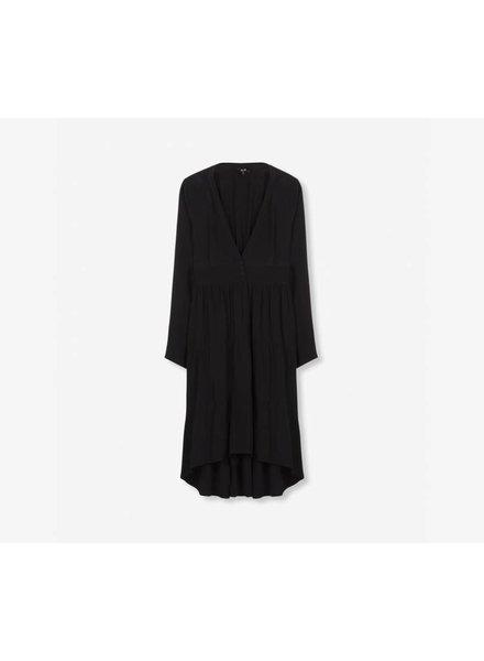 Alix The Label Longue robe noir en viscose