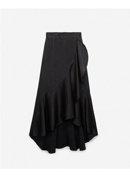 The Kooples Long skirt with slit and bow at the waist