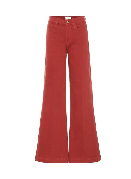 Frame Palazzo en jeans rouge