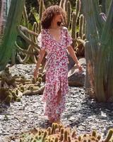Misa Katarina Dress Peony Floral Ditsy