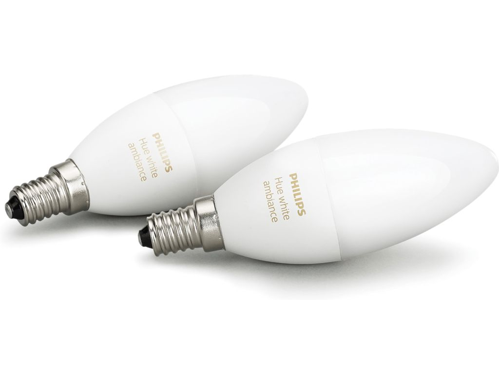 Fremragende Home2Link   Philips Hue White Ambiance E14 Duo-pack   Home2Link EW12
