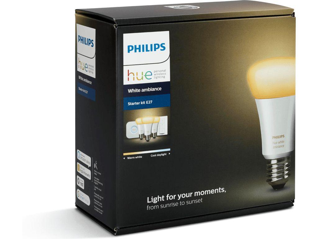 PHILIPS HUE Philips Hue White Ambiance E27 Starterset