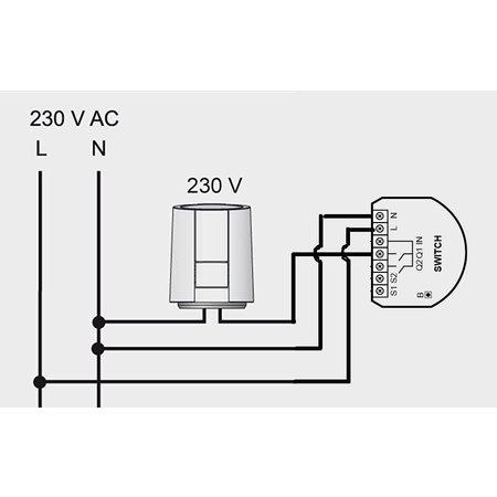 Thermostatische Radiatorkraan 230V (NC)