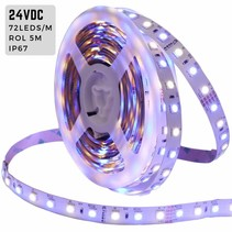 LED-Strip 5m RGBW 24V waterdicht IP67