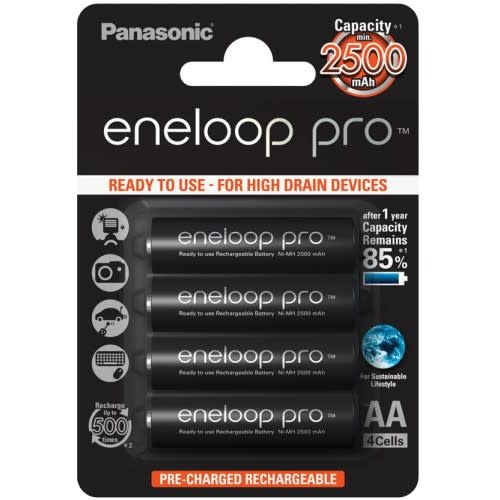PANASONIC Eneloop Pro 4xAA Oplaadbare Batterij 2500mAh