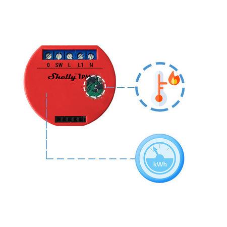 SHELLY Shelly 1PM WiFi inbouw schakelaar