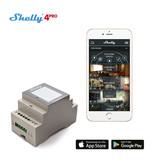 SHELLY Shelly 4PRO WiFi DIN-rail schakelaar