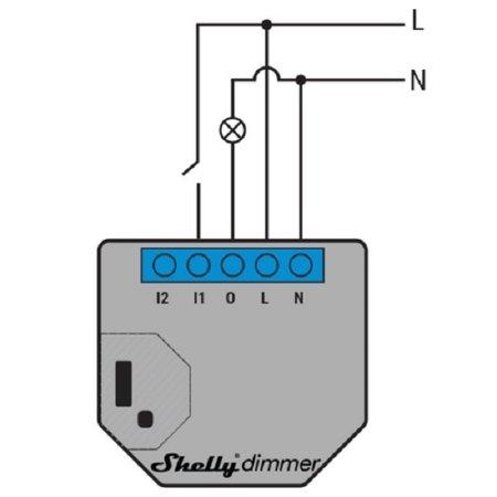 SHELLY Shelly Dimmer  WiFi inbouw schakelaar