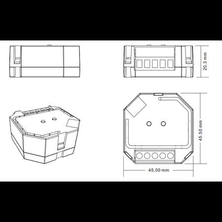ZigBee Hue Inbouw Dimmer 400W