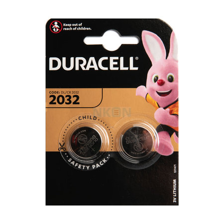 DURACELL Duracell CR2032 Lithium batterij Duo-pack