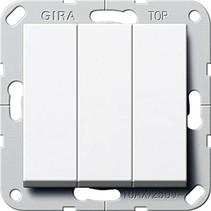 wipdrukcontact 3v 10A wit glanzend