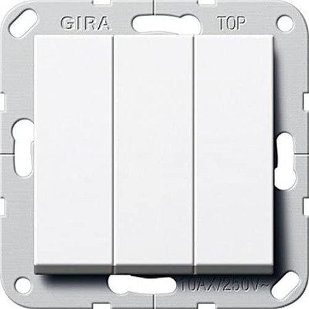 GIRA GIRA wipdrukcontact 3v 10A wit glanzend