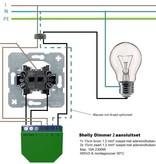SHELLY Shelly Dimmer 2 WiFi inbouw schakelaar