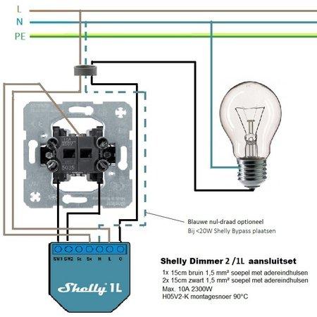 Shelly Dimmer 2 aansluitset