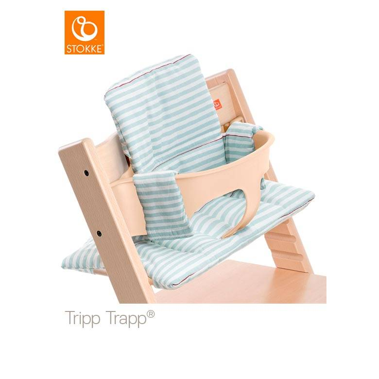 Tripp Trapp kussenset Aqua stripes