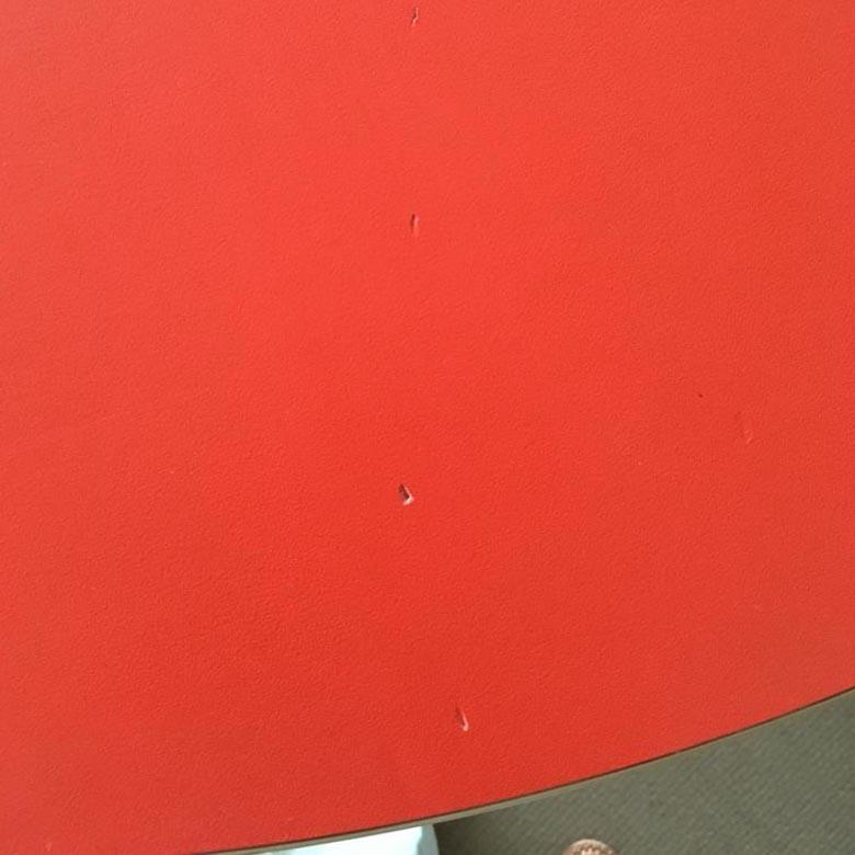 Tafel rond rood
