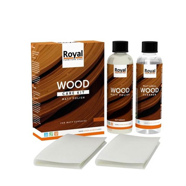 Wood care kit matt polish
