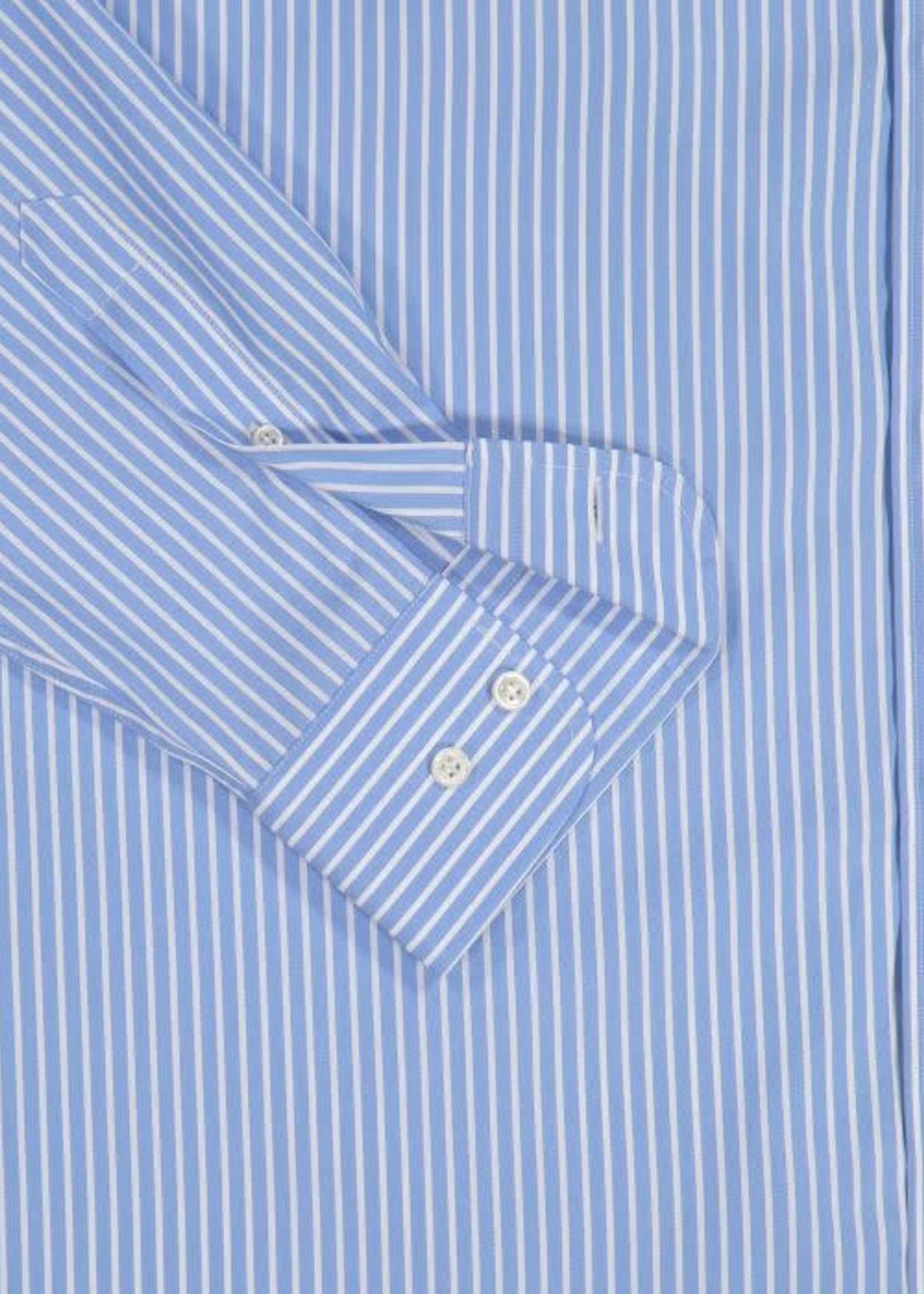Paul & Shark Paul & Shark Overhemd Blauw Wit Gestreept Easy Care