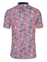 Desoto Desoto Modern Button Down  Shirt Korte Mouw  red