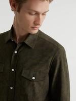 Traiano Traiano Overshirt Groen Suede-look