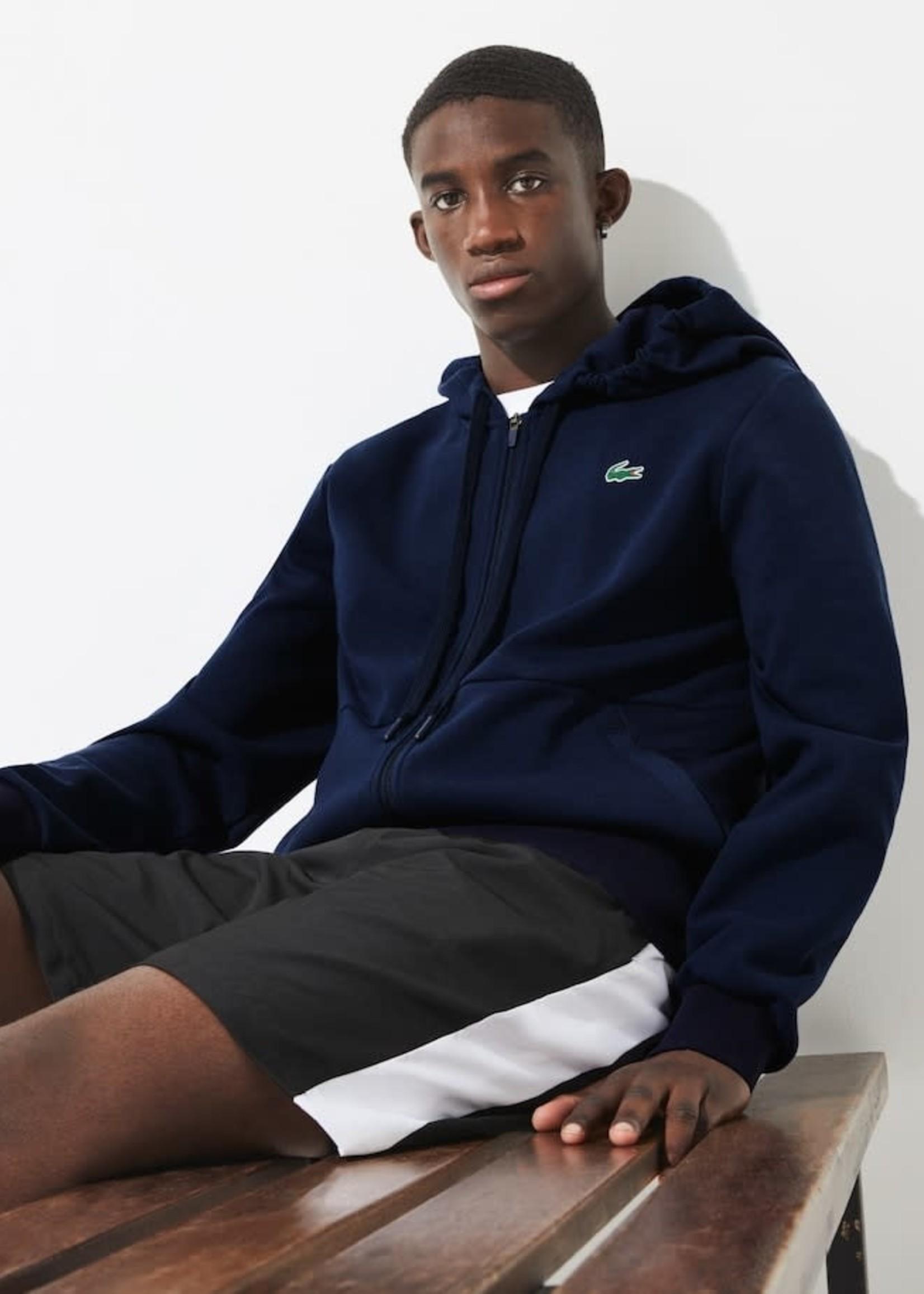 Lacoste Sportief  Sweatshirt Heren met Capuchon,  mesh vlakken en rits