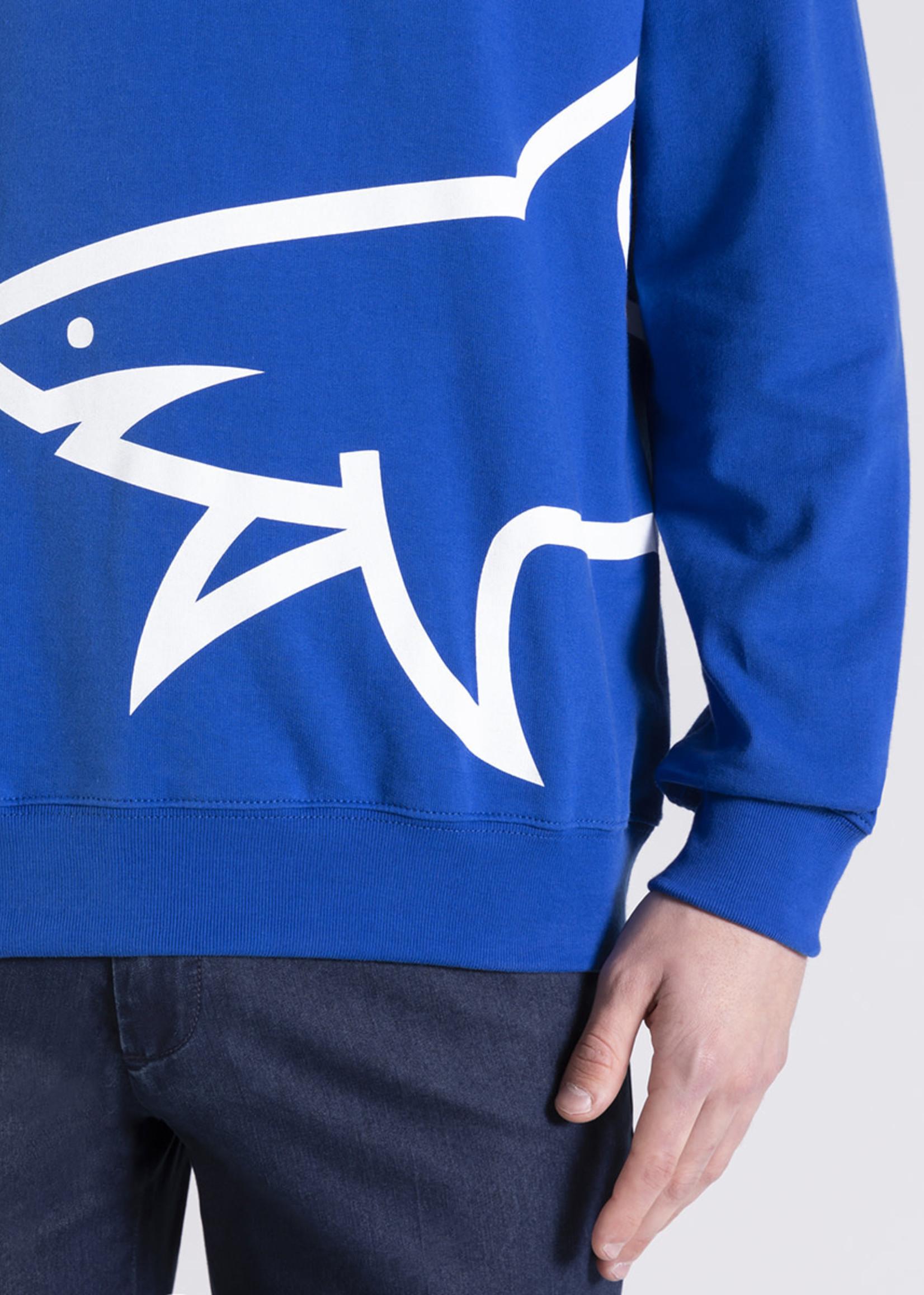 Paul & Shark Paul & Shark Hoodie Cobalt met Logo Haai