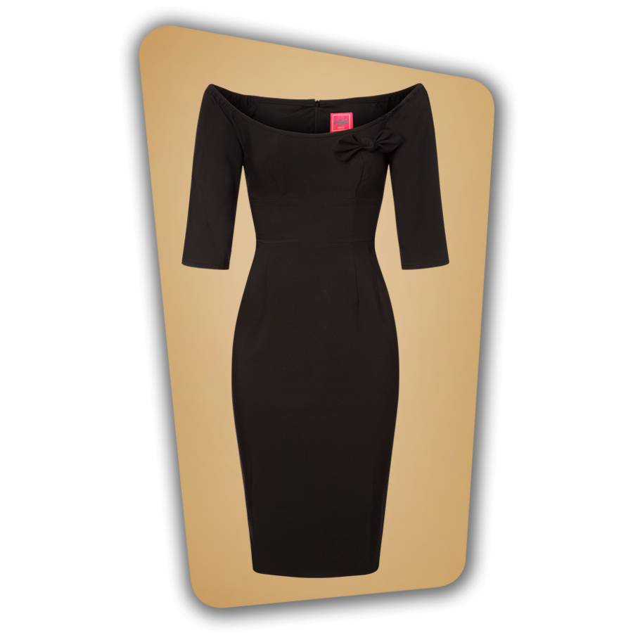 Brigitte Pencil Dress - Black