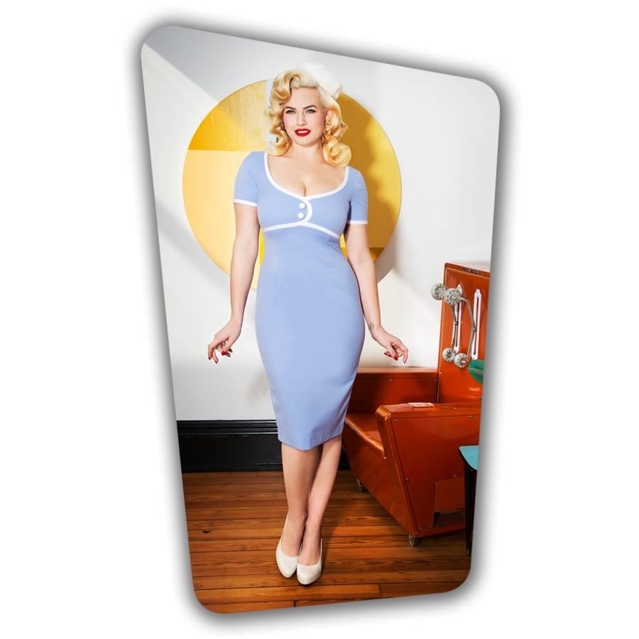Tess Pencil Dress  in Heavenly Blue