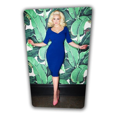 Faith Pencil Dress - Royal Blue