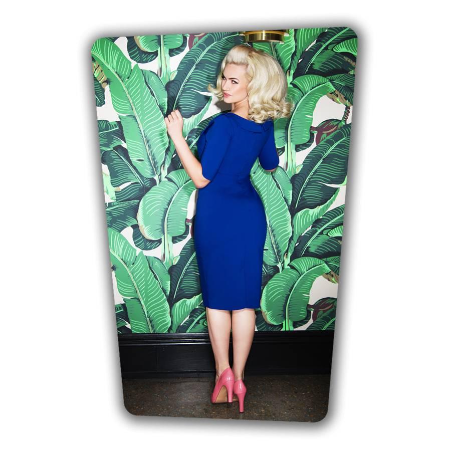 Faith Pencil Dress - Royal Blue