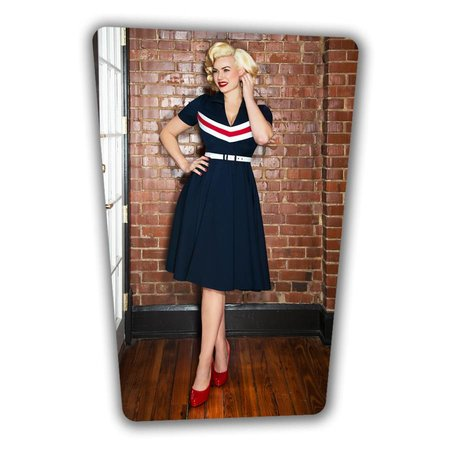June Swing Dress - Navy